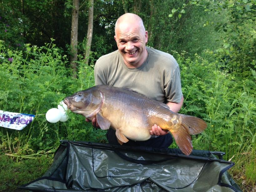 Keith with a 36lb 14oz Mirror caught 26th May 2016